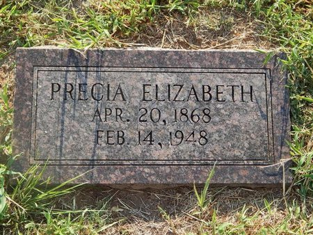 JULIAN, PRECIA ELIZABETH - Alfalfa County, Oklahoma | PRECIA ELIZABETH JULIAN - Oklahoma Gravestone Photos