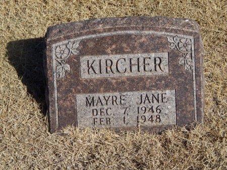 KIRCHER, MAYRE JANE - Alfalfa County, Oklahoma | MAYRE JANE KIRCHER - Oklahoma Gravestone Photos
