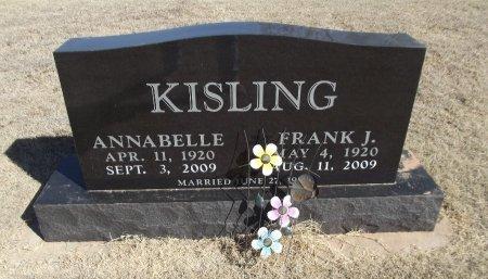 BOWER KISLING, ANNABELLE - Alfalfa County, Oklahoma | ANNABELLE BOWER KISLING - Oklahoma Gravestone Photos
