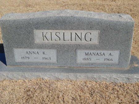 KISLING, MANASA A - Alfalfa County, Oklahoma | MANASA A KISLING - Oklahoma Gravestone Photos