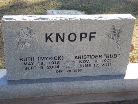 "KNOPF, ARISTIDES ""BUD"" - Alfalfa County, Oklahoma | ARISTIDES ""BUD"" KNOPF - Oklahoma Gravestone Photos"