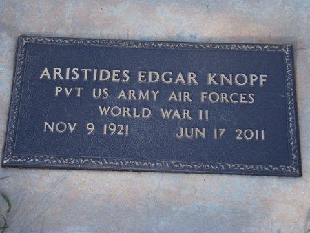 KNOPF (VETERAN WWII), ARISTIDES EDGAR - Alfalfa County, Oklahoma   ARISTIDES EDGAR KNOPF (VETERAN WWII) - Oklahoma Gravestone Photos