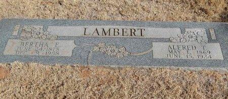 LAMBERT, BERTHA E - Alfalfa County, Oklahoma | BERTHA E LAMBERT - Oklahoma Gravestone Photos
