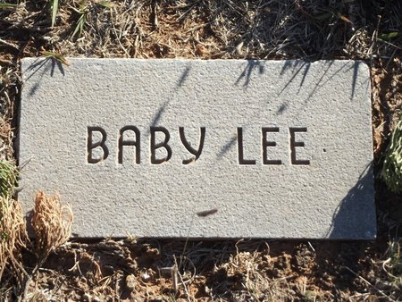 LEE, BABY 1 - Alfalfa County, Oklahoma | BABY 1 LEE - Oklahoma Gravestone Photos