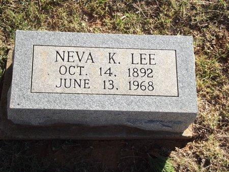 LEE, NEVA K - Alfalfa County, Oklahoma | NEVA K LEE - Oklahoma Gravestone Photos