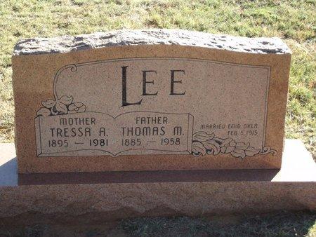 LEE, THOMAS M - Alfalfa County, Oklahoma | THOMAS M LEE - Oklahoma Gravestone Photos
