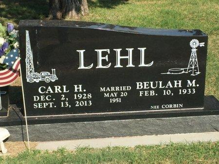 LEHL, CARL H - Alfalfa County, Oklahoma | CARL H LEHL - Oklahoma Gravestone Photos