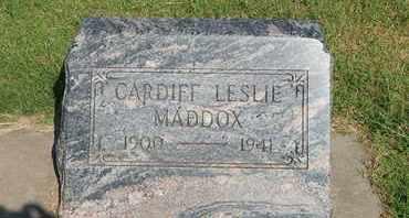 MADDOX, CARDIFF LESLIE - Alfalfa County, Oklahoma | CARDIFF LESLIE MADDOX - Oklahoma Gravestone Photos