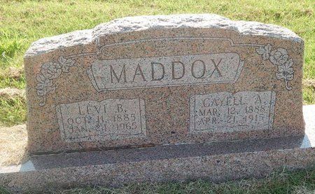 MADDOX, LEVI B - Alfalfa County, Oklahoma   LEVI B MADDOX - Oklahoma Gravestone Photos