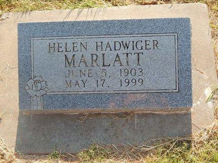 HADWIGER MARLATT, HELEN - Alfalfa County, Oklahoma   HELEN HADWIGER MARLATT - Oklahoma Gravestone Photos