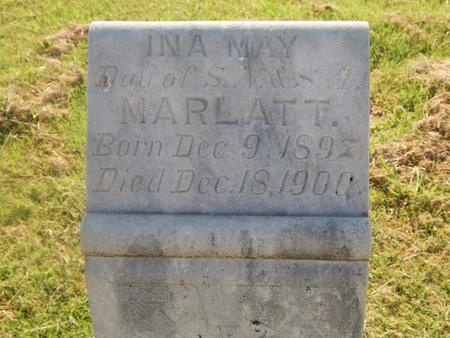 MARLATT, INA MAY - Alfalfa County, Oklahoma | INA MAY MARLATT - Oklahoma Gravestone Photos