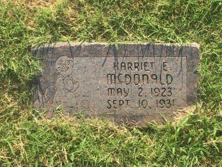 MCDONALD, HARRIET E - Alfalfa County, Oklahoma | HARRIET E MCDONALD - Oklahoma Gravestone Photos