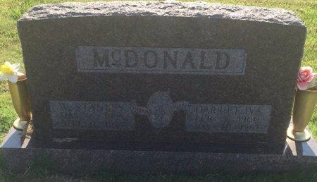 MCDONALD, W STANLEY - Alfalfa County, Oklahoma | W STANLEY MCDONALD - Oklahoma Gravestone Photos