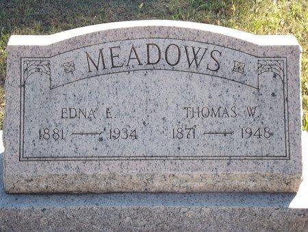 MEADOWS, THOMAS W - Alfalfa County, Oklahoma | THOMAS W MEADOWS - Oklahoma Gravestone Photos