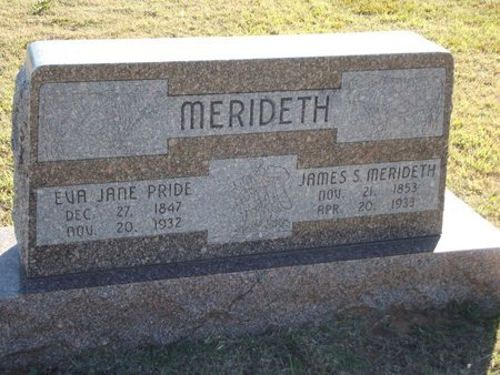 MERIDETH, EVA JANE - Alfalfa County, Oklahoma | EVA JANE MERIDETH - Oklahoma Gravestone Photos