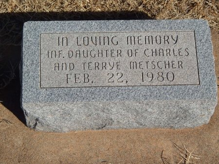METSCHER, INFANT DAUGHTER - Alfalfa County, Oklahoma | INFANT DAUGHTER METSCHER - Oklahoma Gravestone Photos