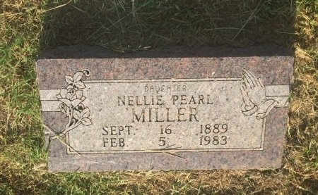 MILLER, NELLIE PEARL - Alfalfa County, Oklahoma   NELLIE PEARL MILLER - Oklahoma Gravestone Photos