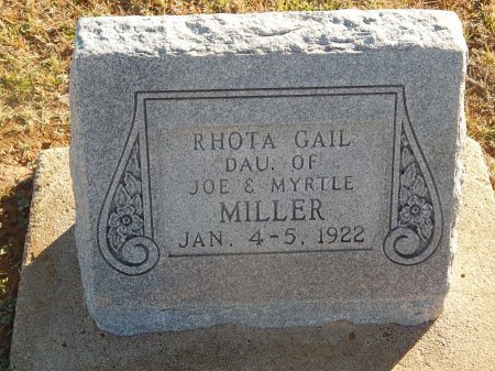 MILLER, RHOTA GAIL - Alfalfa County, Oklahoma | RHOTA GAIL MILLER - Oklahoma Gravestone Photos