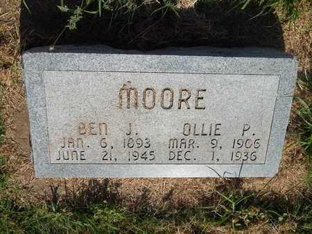 MOORE, OLLIE P - Alfalfa County, Oklahoma   OLLIE P MOORE - Oklahoma Gravestone Photos