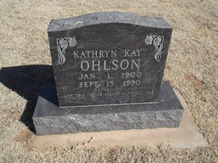 "OHLSON, KATHRYN ""KAY"" - Alfalfa County, Oklahoma | KATHRYN ""KAY"" OHLSON - Oklahoma Gravestone Photos"