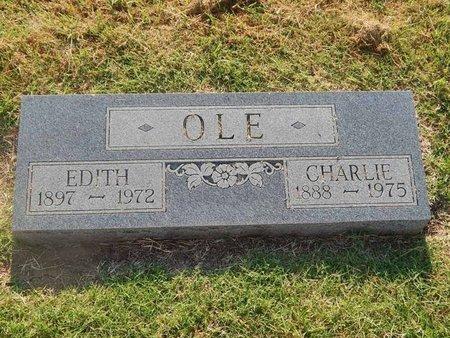 OLE, EDITH - Alfalfa County, Oklahoma | EDITH OLE - Oklahoma Gravestone Photos
