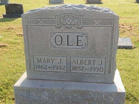 OLE, ALBERT J - Alfalfa County, Oklahoma | ALBERT J OLE - Oklahoma Gravestone Photos