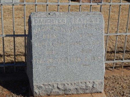 SCHULTZ OTTI, MAGGIE - Alfalfa County, Oklahoma | MAGGIE SCHULTZ OTTI - Oklahoma Gravestone Photos