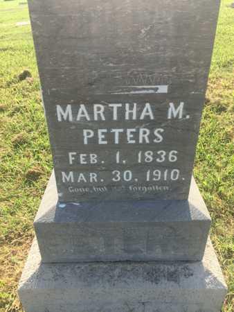 PETERS, MARTHA - Alfalfa County, Oklahoma   MARTHA PETERS - Oklahoma Gravestone Photos