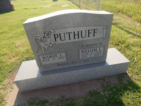 PUTHUFF, WILLIAM L - Alfalfa County, Oklahoma | WILLIAM L PUTHUFF - Oklahoma Gravestone Photos