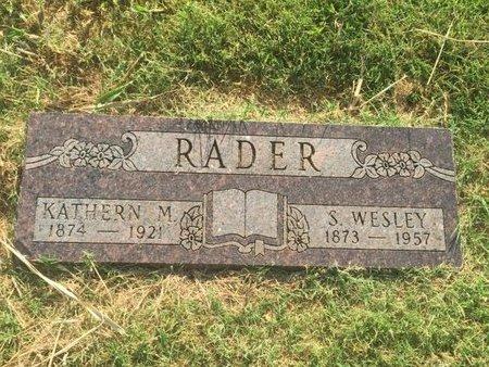 RADER, KATHERN M - Alfalfa County, Oklahoma | KATHERN M RADER - Oklahoma Gravestone Photos