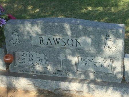 RAWSON, BETTY L - Alfalfa County, Oklahoma | BETTY L RAWSON - Oklahoma Gravestone Photos