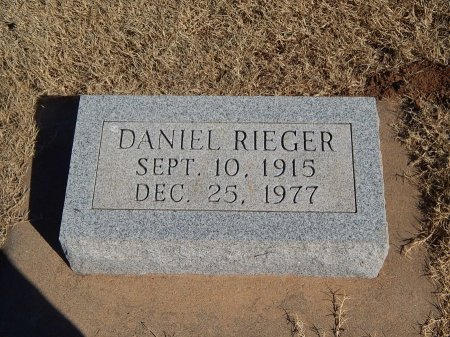 RIEGER, DANIEL - Alfalfa County, Oklahoma   DANIEL RIEGER - Oklahoma Gravestone Photos