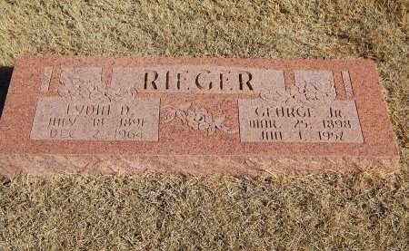 RIEGER, GEORGE JR - Alfalfa County, Oklahoma   GEORGE JR RIEGER - Oklahoma Gravestone Photos