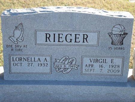 RIEGER, VIRGIL E - Alfalfa County, Oklahoma | VIRGIL E RIEGER - Oklahoma Gravestone Photos