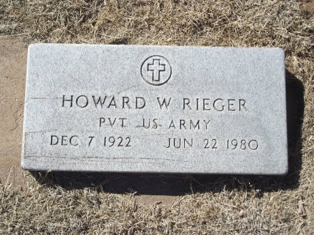 RIEGER (VETERAN), HOWARD W - Alfalfa County, Oklahoma | HOWARD W RIEGER (VETERAN) - Oklahoma Gravestone Photos