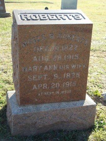 ROBERTS, MARY ANN - Alfalfa County, Oklahoma   MARY ANN ROBERTS - Oklahoma Gravestone Photos