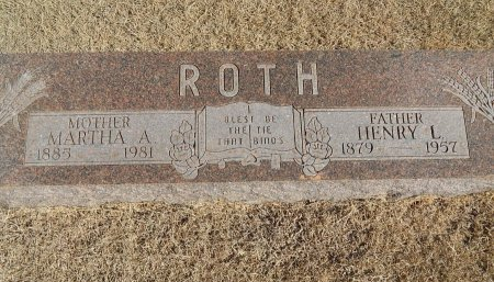 ROTH, HENRY L - Alfalfa County, Oklahoma | HENRY L ROTH - Oklahoma Gravestone Photos