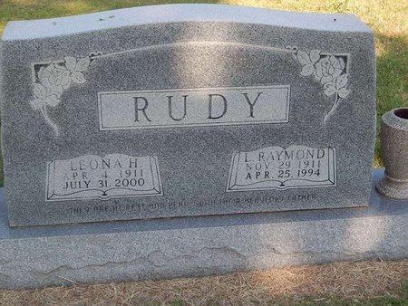 RUDY, L RAYMOND - Alfalfa County, Oklahoma   L RAYMOND RUDY - Oklahoma Gravestone Photos