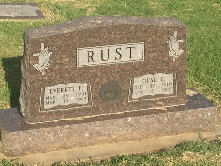 RUST, OPAL E - Alfalfa County, Oklahoma | OPAL E RUST - Oklahoma Gravestone Photos