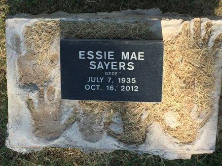 BROWN SAYERS, ESSIE MAE - Alfalfa County, Oklahoma | ESSIE MAE BROWN SAYERS - Oklahoma Gravestone Photos