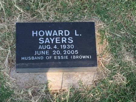 SAYERS, HOWARD L - Alfalfa County, Oklahoma   HOWARD L SAYERS - Oklahoma Gravestone Photos
