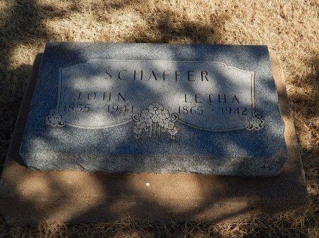 SCHAFFER, LETHA - Alfalfa County, Oklahoma | LETHA SCHAFFER - Oklahoma Gravestone Photos