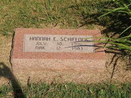 SCHIFFNER, HANNAH E - Alfalfa County, Oklahoma | HANNAH E SCHIFFNER - Oklahoma Gravestone Photos