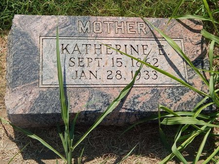 SCHIFFNER, KATHERINE E - Alfalfa County, Oklahoma   KATHERINE E SCHIFFNER - Oklahoma Gravestone Photos