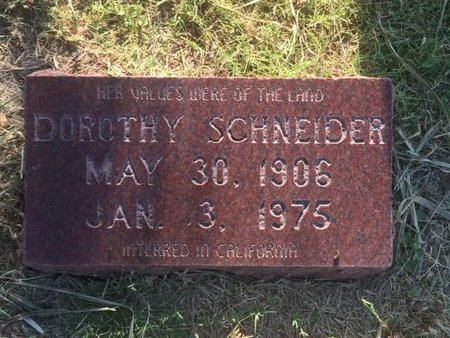 SCHNEIDER, DOROTHY - Alfalfa County, Oklahoma | DOROTHY SCHNEIDER - Oklahoma Gravestone Photos