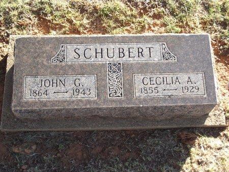 SCHUBERT, JOHN G - Alfalfa County, Oklahoma   JOHN G SCHUBERT - Oklahoma Gravestone Photos
