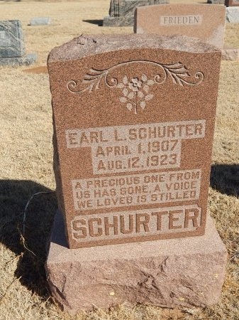 SCHURTER, EARL L - Alfalfa County, Oklahoma | EARL L SCHURTER - Oklahoma Gravestone Photos