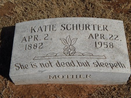 SCHURTER, KATIE - Alfalfa County, Oklahoma | KATIE SCHURTER - Oklahoma Gravestone Photos
