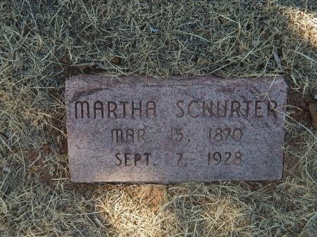 SCHURTER, MARTHA - Alfalfa County, Oklahoma | MARTHA SCHURTER - Oklahoma Gravestone Photos