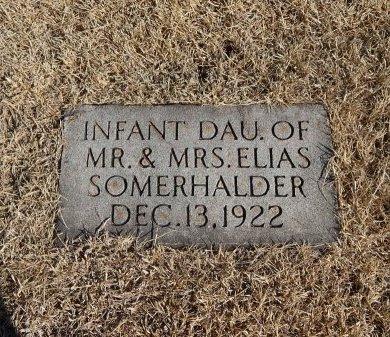 SOMERHALDER, INFANT DAUGHTER - Alfalfa County, Oklahoma | INFANT DAUGHTER SOMERHALDER - Oklahoma Gravestone Photos